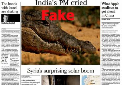 Did NYT Print Compared PM Modi's cry to Crocodile Tears